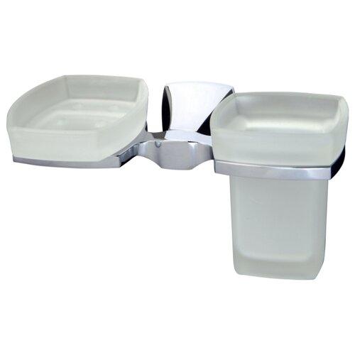 Стакан в ванную WasserKRAFT Wern K-2526 с мыльницей стакан и мыльница wasserkraft wern k 2526