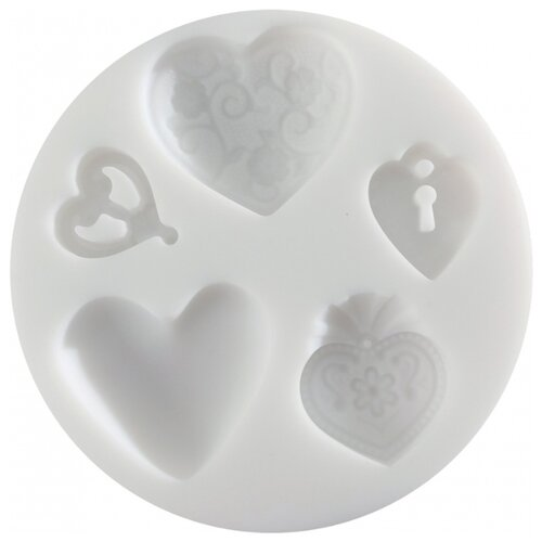 Купить CE95115 Силиконовый молд 'Сердечки' Cernit, Инструменты и аксессуары
