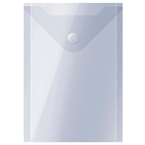 Купить OfficeSpace Папка-конверт на кнопке А6, пластик 150 мкм, 10 шт прозрачный, Файлы и папки