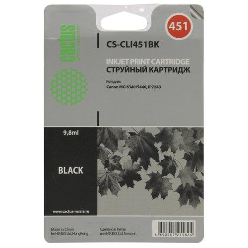 Фото - Картридж cactus CS-CLI451BK 9.8 мл., совместимый картридж cactus cs tn1075 совместимый