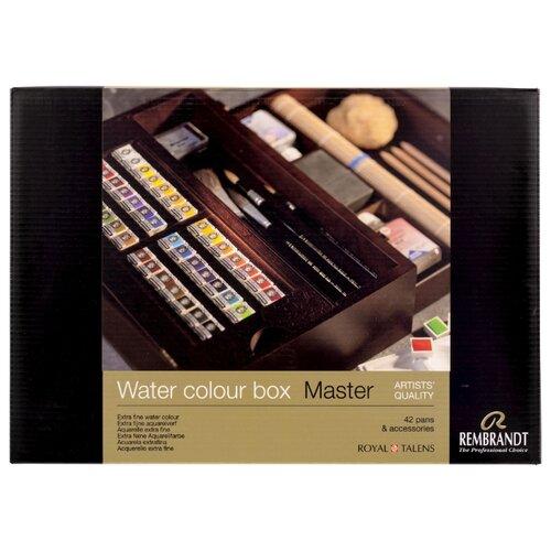 Купить Набор акварельных красок Rembrandt Master кюветы в деревянном коробе, Royal Talens, Краски