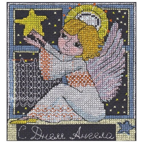 Купить PANNA Набор для вышивания Праздничные миниатюры. С днем Ангела 12.5 x 14 см (OT-1360), Наборы для вышивания