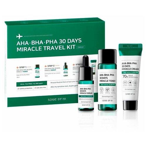 Купить Some by mi Набор средств с AHA/BHA/PHA кислотами для путешествий 30 Days Miracle Travel Kit, 30мл+20мл+10мл
