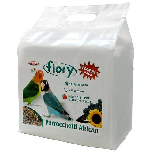 Фото - Fiory корм Parrocchetti African для средних попугаев 3200 г fiory fiory корм для средних попугаев parrocchetti african