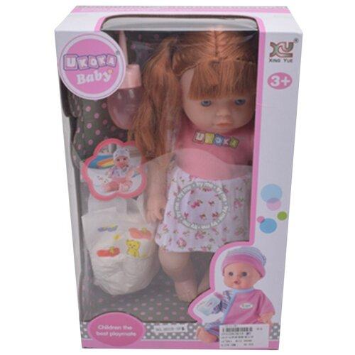 Купить Игровой набор Маленькая мама , звук, в комплекте кукла 32см, предм. 32шт, эл.пит. AG13*3шт. вх. в компл. Shantoy Gepay 8018-3F2, Наша игрушка, Куклы и пупсы