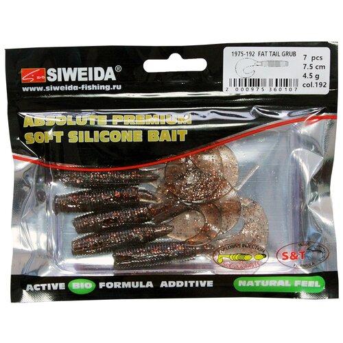 Набор приманок резина SIWEIDA Fat Tail Grub твистер цв. 192 7 шт.