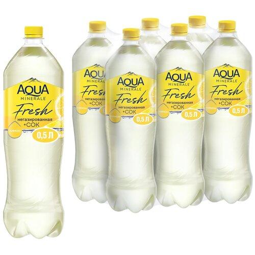 Фото - Вода питьевая Aqua Minerale негазированная с соком Лимон, ПЭТ, 6 шт. по 1.5 л вода питьевая aqua minerale негазированная 2 л