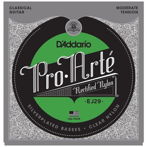 D`ADDARIO EJ29 PRO-ARTE RECTIFIED TREBLES, MODERATE TENSION Струны для классической гитары, среднее натяжение