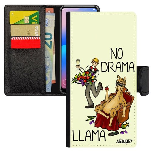 Чехол-книжка на смартфон Huawei P20 Pro No drama lama Лама без напрягов чехол книжка на смартфон huawei p20 pro оригинальный дизайн no drama lama лама без напрягов