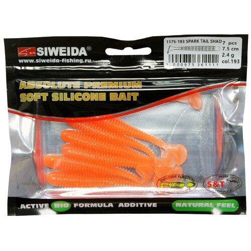 Набор приманок резина SIWEIDA Spark Tail Shad виброхвост цв. 193 7 шт.