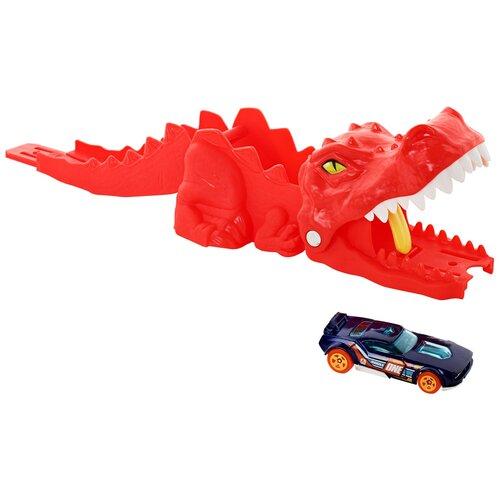 Пусковое устройство Hot Wheels City Dino Launcher GVF42 launcher track t rex rampage hot wheels