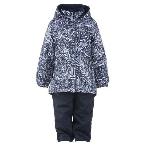 Купить Комплект с полукомбинезоном KERRY Hedvig K21036A размер 140, 02991 темно-синий, Комплекты верхней одежды