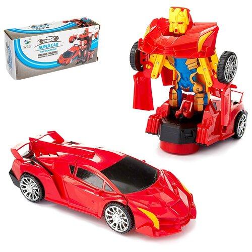 Купить Робот «Ламба», трансформируется, световые и звуковые эффекты, работает от батареек, Dade Toys, Роботы и трансформеры