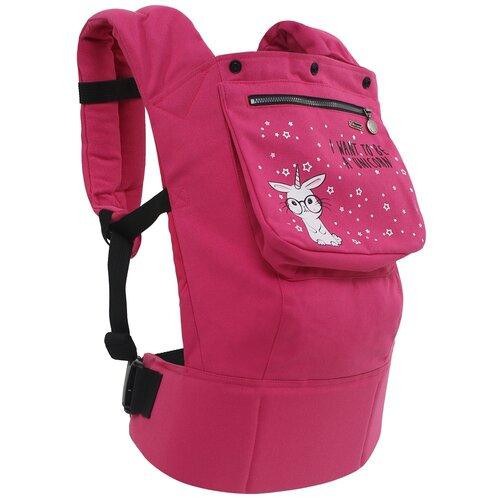 Купить Эргорюкзак I Love Mum Классик розовый/единорог, Рюкзаки и сумки-кенгуру