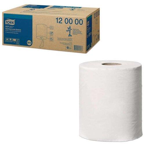 Купить Бумага протирочная/полотенца TORK (M4) Reflex, КОМПЛЕКТ 6 шт., 270 м, с центральной вытяжкой, 120000