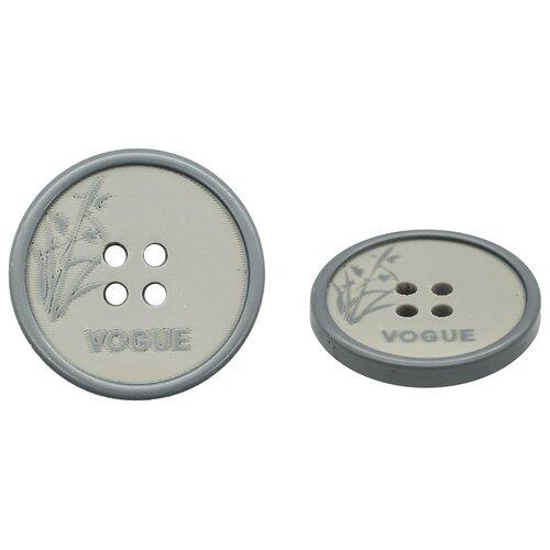 Купить MA108 Пуговица 40L (25мм) 4пр. (Gray1 (серый1)), 24 шт, Astra & Craft, Пуговицы