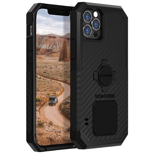 Противоударный чехол-накладка Rokform Rugged Case для iPhone 12/12 Pro со встроенным магнитом.. Материал: поликарбонат. Цвет: черный.