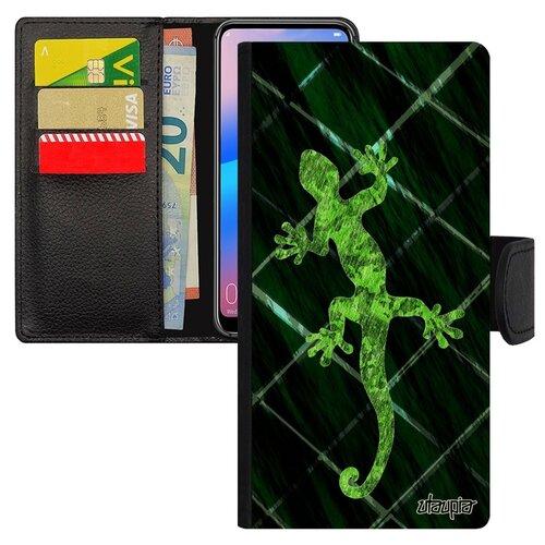 Чехол-книжка для телефона Huawei P20 Pro уникальный дизайн Саламандра Тритон Талисман