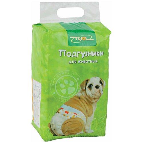 Подгузники для собак Triol 10541001 Размер XS 36 см белый с рисунком 22 шт. платье oodji ultra цвет красный белый 14001071 13 46148 4512s размер xs 42 170