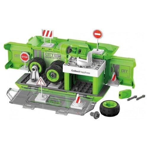 Конструктор Shantou BHX Toys Коммунальная техника CJ-1365744 Зеленая игровая станция