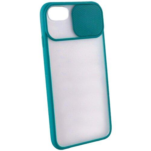 Защитный чехол с защитой камеры для iPhone 6 Plus / 7 Plus / 8 Plus / на Айфон Плюс / бампер / накладка на телефон / Темно-зеленый