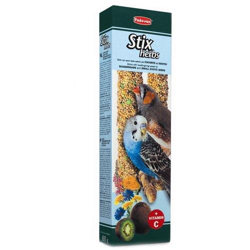 Лакомство для птиц Padovan Stix Herbs для попугаев и экзотических птиц антистрессовые с травами 80 г