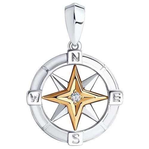 SOKOLOV Подвеска из золота и серебра с бриллиантом 1930008