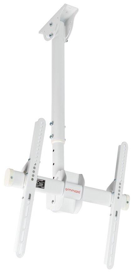 Кронштейн на потолок Arm Media LCD-1800 белый фото 1