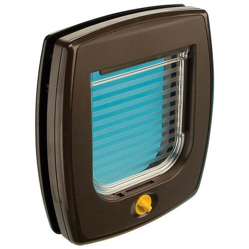 Дверца в дверь для животных Ferplast Swing 3 22.5х25.2 см коричневый туннель для автоматической двери ferplast swing 3 5 16 3 х 5 х 18 4 см белый