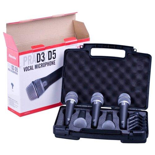 Superlux PRAD5 Вокальный динамический микрофон, набор 5 шт.
