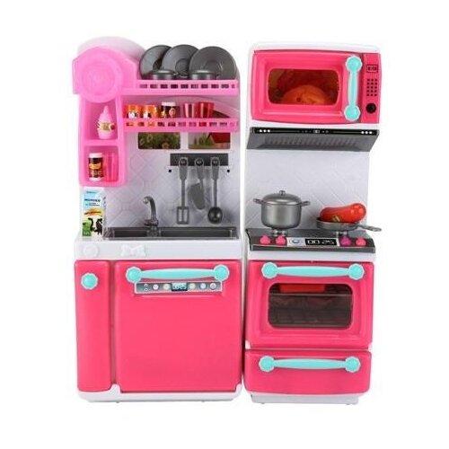 Фото - Кухня ABtoys Помогаю маме PT-01395 розовый/белый набор abtoys помогаю маме pt 01342 розовый белый