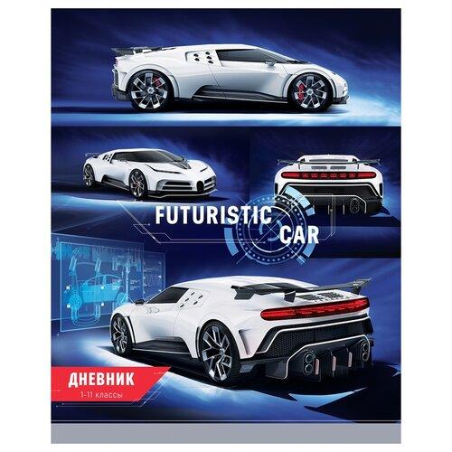 Купить ArtSpace Дневник Авто. Futuristic car синий/белый, Дневники