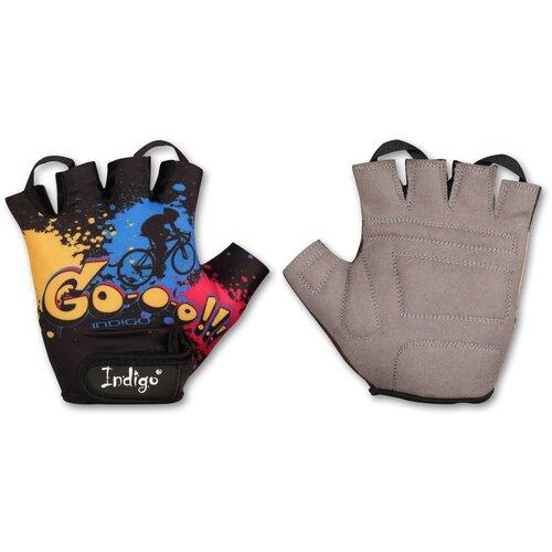 Перчатки вело детские INDIGO GO IN180 Черный 2XS