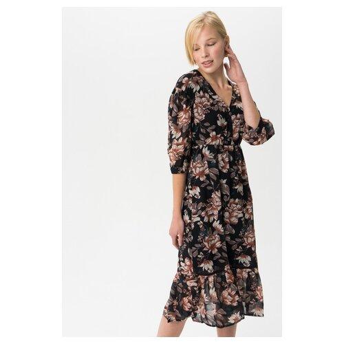 Платье Vero moda 10222077 женское Цвет Черный Black Цветы р-р 42 XS майка vero moda 10212778 размер xs черный