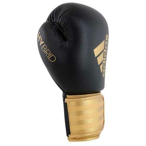 Боксерские перчатки adidas Hybrid 100 черный/золотистый 14 oz