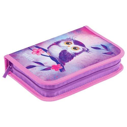 Купить Berlingo Пенал Owl (PK06220) розовый, Пеналы