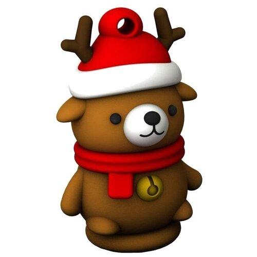 Фото - Флешка SmartBuy NY series Caribou Bear 16 GB, коричневый флешка smartbuy ny series snow 16 gb красный белый