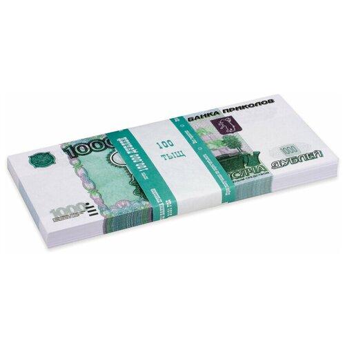Филькина Грамота Билеты банка приколов 1000 рублей, зеленый