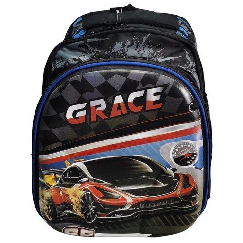 Школьный рюкзак для мальчика/Ранец школьный/Портфель школьный/Ортопедический рюкзак для первоклассника/Ранец с машинкой GRACE R-24/3 iHOME