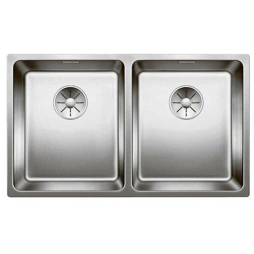 Интегрированная кухонная мойка 74.5 см Blanco Andano 340/340-IF InFino нержавеющая сталь зеркальная полировка