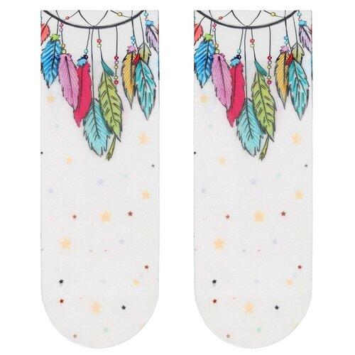 Капроновые носки Conte Elegant Fantasy 18С-76СП 203, размер 23-25, белый