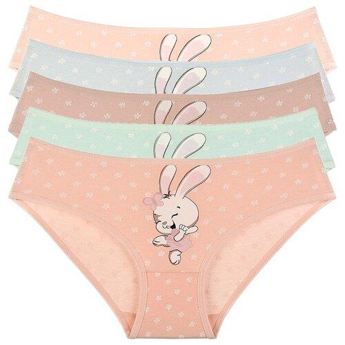 Купить Трусы для девочек 41911ET, Цвет: Микс, Размер: 2/3, 5шт. в упаковке, Donella, Белье и купальники