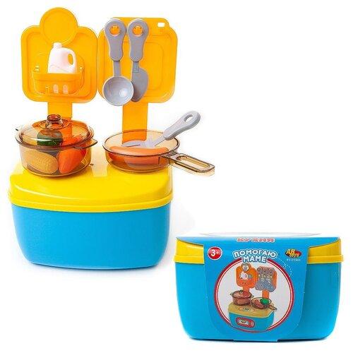 Фото - Помогаю Маме. Кухня-мини в чемоданчике, в наборе с аксессуарами кухня мини abtoys помогаю маме в чемоданчике с аксессуарами pt 01360