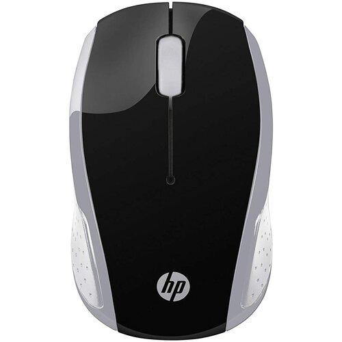 Беспроводная мышь HP 200, черный/серебристый