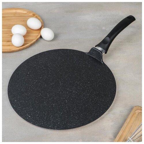Сковорода-чудушница (классическая) 320мм, АП (темный мрамор) 5294308 сковорода d 24 см kukmara кофейный мрамор смки240а