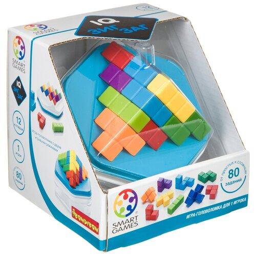 Головоломка BONDIBON Smart Games IQ-Зигзаг (ВВ4678) голубой головоломка bondibon smart games iq конфетки вв1353