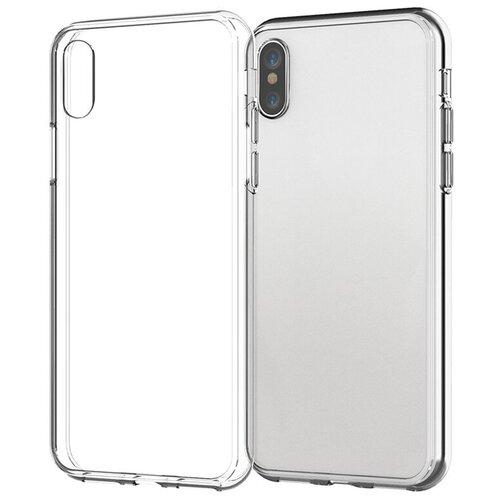 Силиконовый чехол для телефона Apple iPhone X/ iPhone XS. Прозрачный чехол на айфон