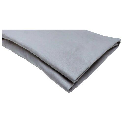Простыня на резинке УЮТНАЯ ИСТОРИЯ P16080, сатин, 80 х 160 см, серый
