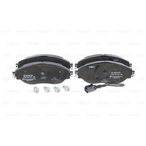 Дисковые тормозные колодки передние Bosch 0986494704 для Skoda, Audi, SEAT, Volkswagen (4 шт.) дисковые тормозные колодки передние bosch 0986494704 для skoda audi seat volkswagen 4 шт