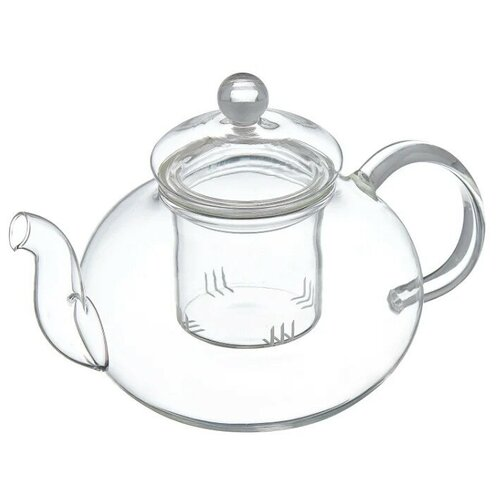 Доляна Чайник заварочный Валенсия 400 мл, бесцветный доляна чайник заварочный восточная ночь 600 мл зеленый